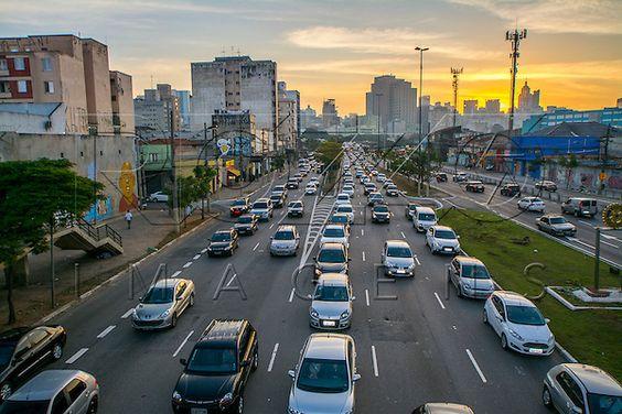 Congestionamento na Avenida Alcântara Machado mais conhecida como Radial Leste, São Paulo - SP, 06/2016.