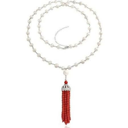 coral necklace - Google Search