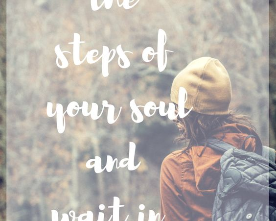 When we find grace on the steps of our soul…