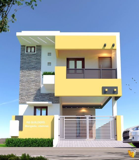 Casas en color amarillo Colores para fachadas 2019 Fachadas en color gris Casas e Pinturas de casas exterior Colores para casas exteriores Pinturas de casas