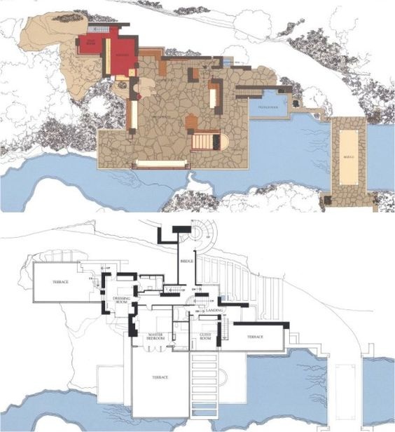 fallingwater by wrights Explore the iconic buildings and tempestuous life of american modern architect, frank lloyd wright on biographycom  fallingwater residence by the mid-1930s,.