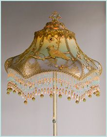Victorian Floor and Table Lamp Shades and Antique Lamps by Nightshades