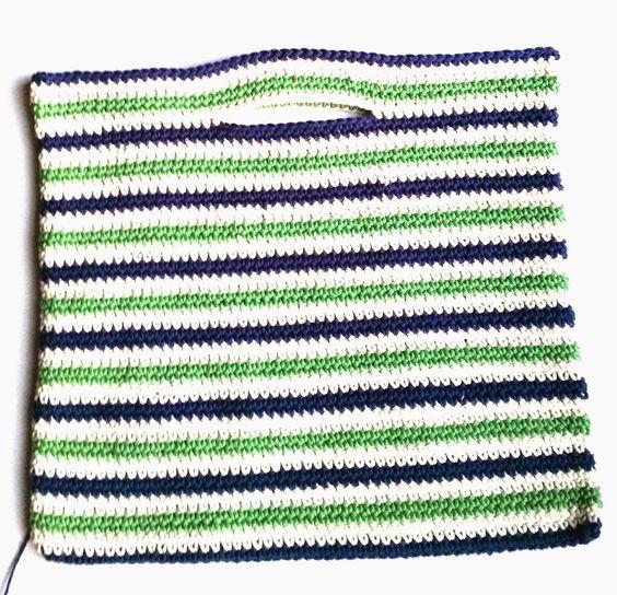 Crochet Mundial de Annoo: la playa del verano náutico Bolsa Tutorial gratuito