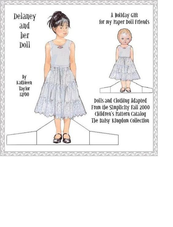 Delaney and her Doll by Kathleen Taylor, adapted from Daisy Kingdom/Simplicity patterns