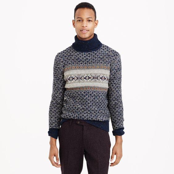 Donegal wool Fair Isle turtleneck sweater : sweaters | J.Crew ...