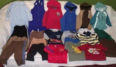 Huge Lot 21 Boys Spring Clothes 6-12 MOS 2T 3T 4T 5T Shirt Shorts Pants Sweats