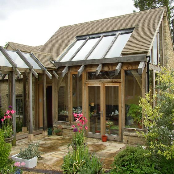 Pinterest the world s catalog of ideas for Oak framed garden room