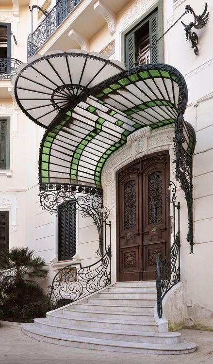 ~mote-historie:  Gregorio Botta 1912 Villa Pappone, Naples, Italy Photo by Andrea Speziali Art Nouveau in Naples