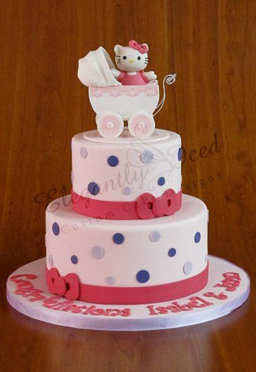 Hello Kitty Baby Hello Kitty And Baby Shower Cakes On