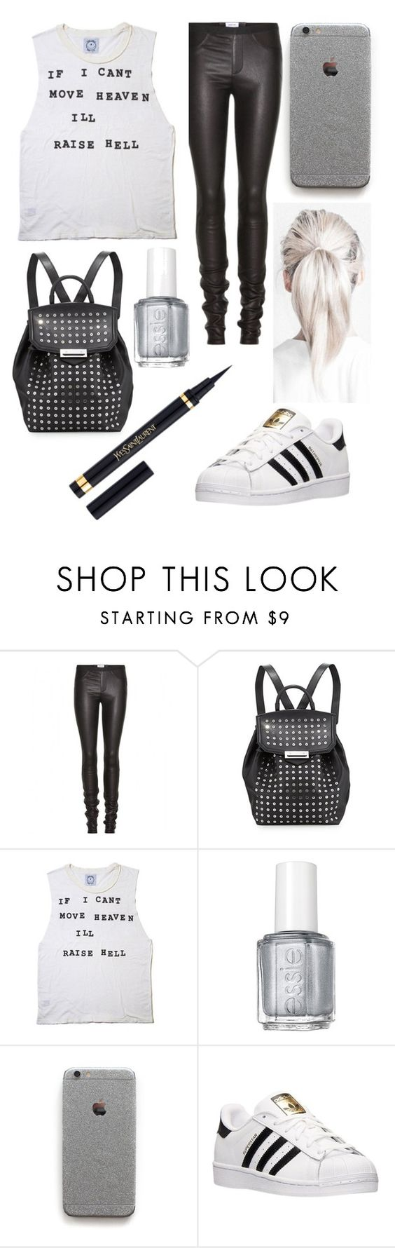 """""""Sebastian Morgenstern, The Mortal Instruments"""" by bellaa03114 ❤ liked on Polyvore featuring Helmut Lang, Alexander Wang, Essie, adidas and Yves Saint Laurent"""