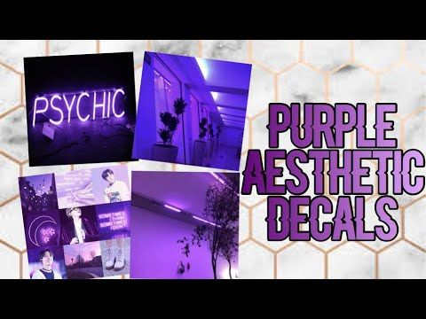 Roblox Bloxburg Purple Aesthetic Decal Id S Youtube Roblox