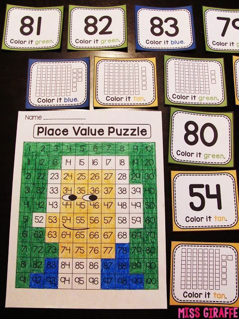 Presidents' Day place value puzzle that is super fun! Kids look at the base ten blocks to figure out the number and color it to reveal a picture of George Washington! Also just straight number cards for easier practice!