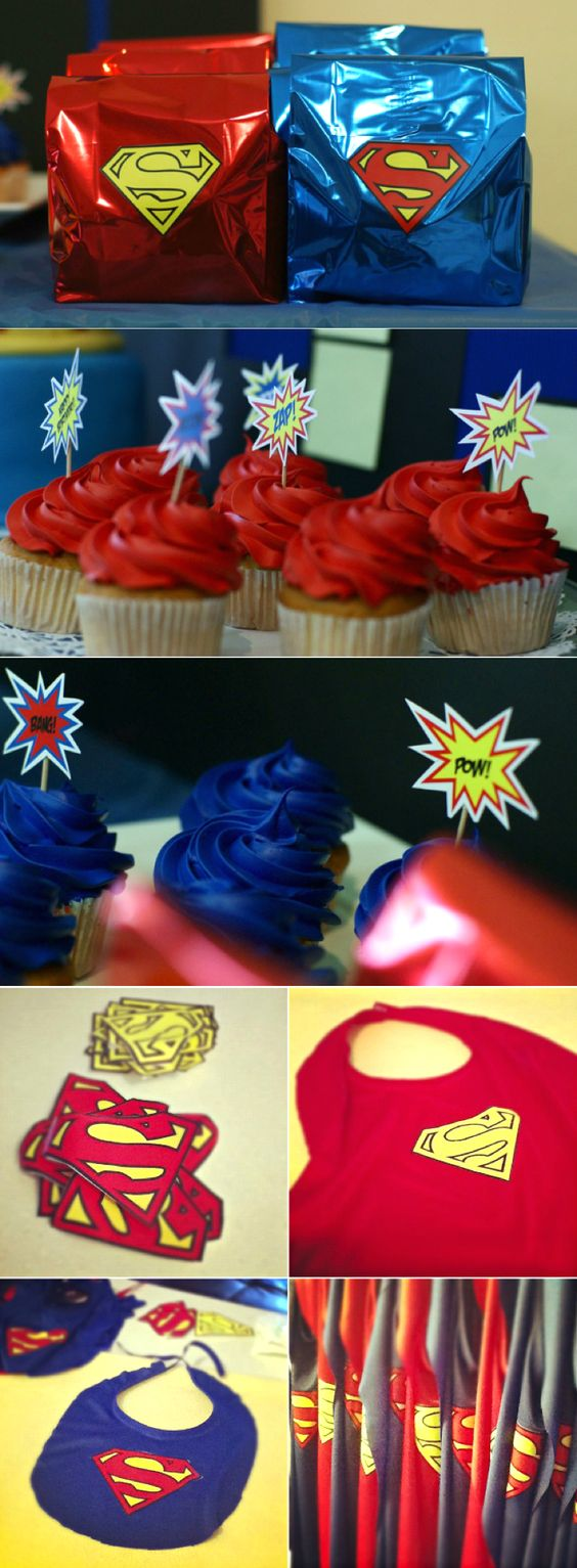 Superman Party Ideas - Ideas para Fiesta de Superman #DIY #party #decor