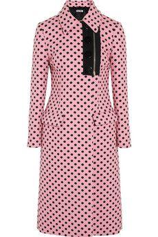 Miu Miu Polka-dot jacquard coat | NET-A-PORTER