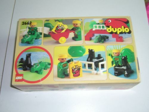 Details About 1990 Vintage Lego 2662 Duplo Pool Pals Zoo