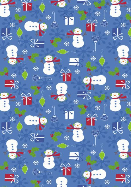 Snowmen scrapbook paper wrapping paper  ♥Nims