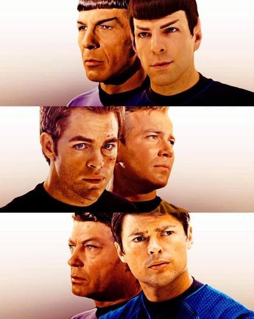Star Trek main characters — Then and now (I think i'll always repin this cause the casting is so perfect)