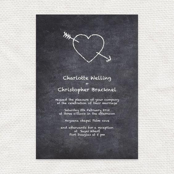 Hochzeitseinladungen im Tafelkreide-Look | Friedatheres