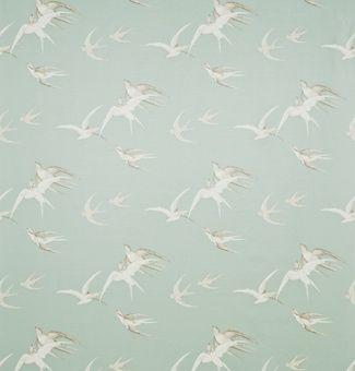 Cushion swallows fabric pebble sanderson vintage - Sanderson swallows wallpaper pebble ...