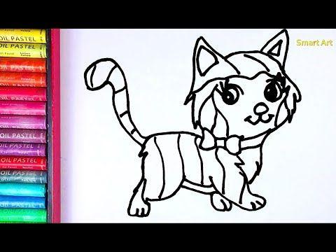 Glitter Cara Menggambar Dan Mewarnai Kucing Pelangi Belajar