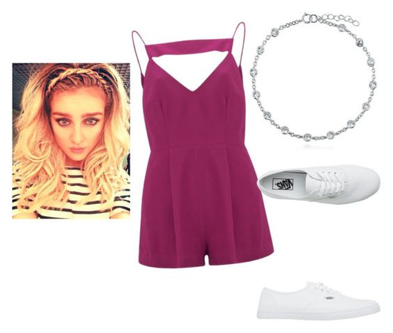 """Perrie Edwards"" by ines-lynch ❤ liked on Polyvore featuring BERRICLE, Finders Keepers and Vans"