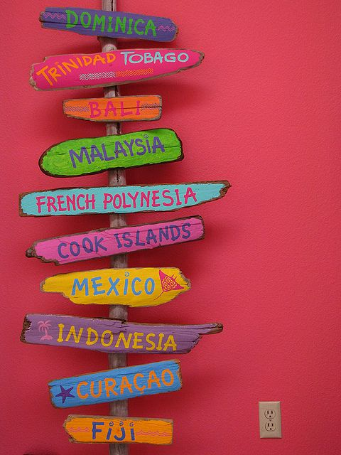 I want this in my den with the same colors but destinations I've been to. I could even add to it as I travel more.