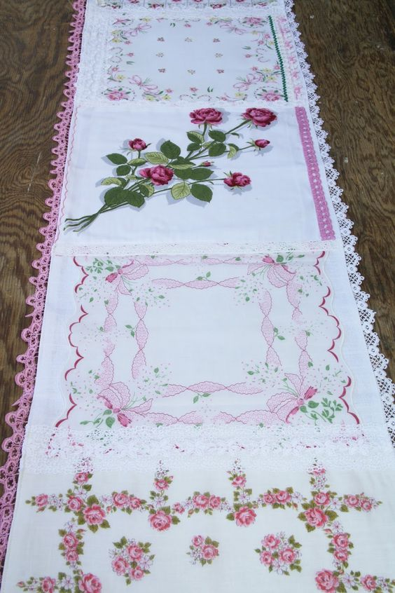 Isa Creative Musings: Vintage Hankie Table Runners, Part I: