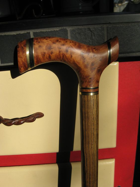 Thuya Burl Exotic Wood Walking Cane - Wooden Cane - Walking Cane - Walking Stick - Wood Cane - Wood. $265.00, via Etsy.