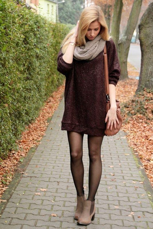 Αποτέλεσμα εικόνας για oversized sweaters with tights