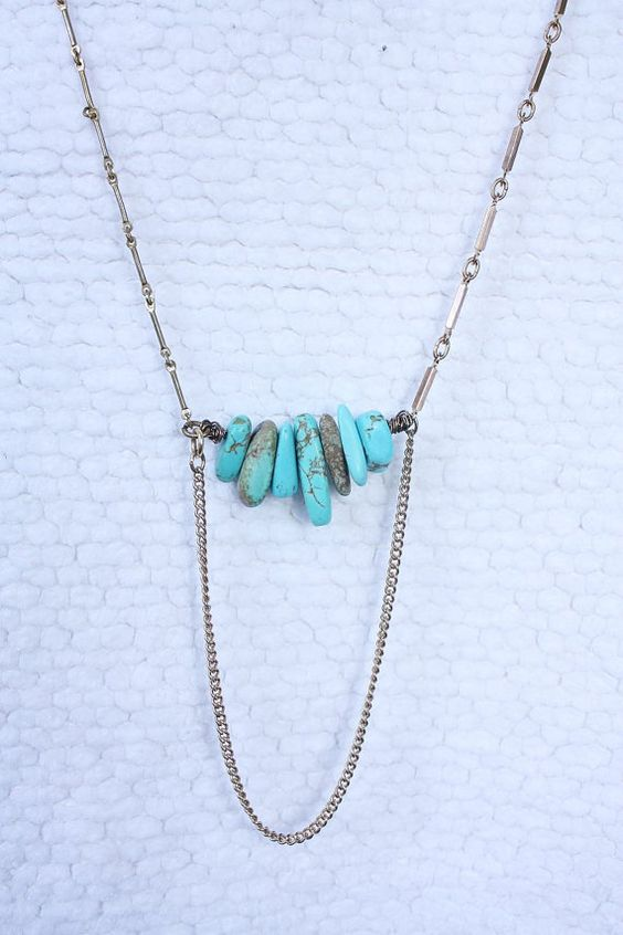 Bitten II necklace  turquoise howlite pendants & by thisOutfit, $25.00