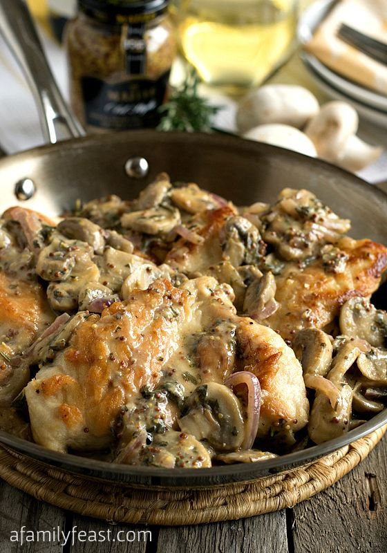 Chicken Breasts with Mushroom and Onion Dijon Sauce. This is..