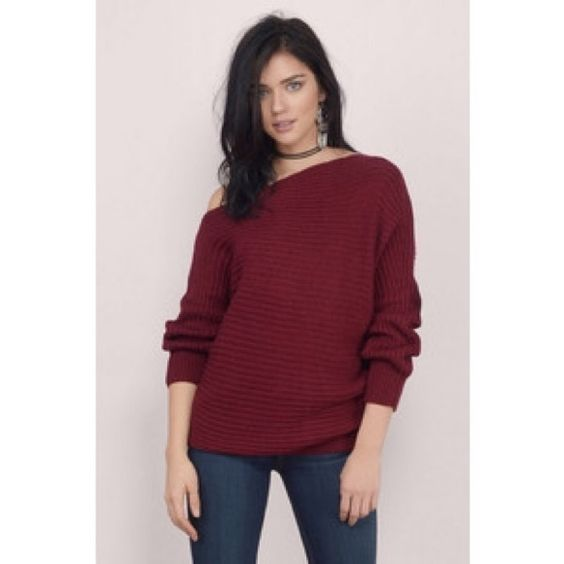Tobi Adeana off the shoulder sweater Worn once and super cute!! Trades and negotiations encouraged!! Tobi Sweaters