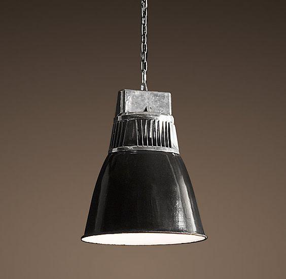 european factory fin pendant utility pendants restoration hardware