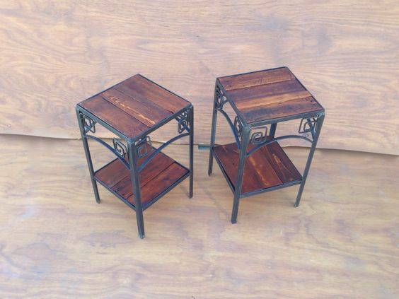 Pair Of Side Tables Fabricated By Steven Brock Utilizing