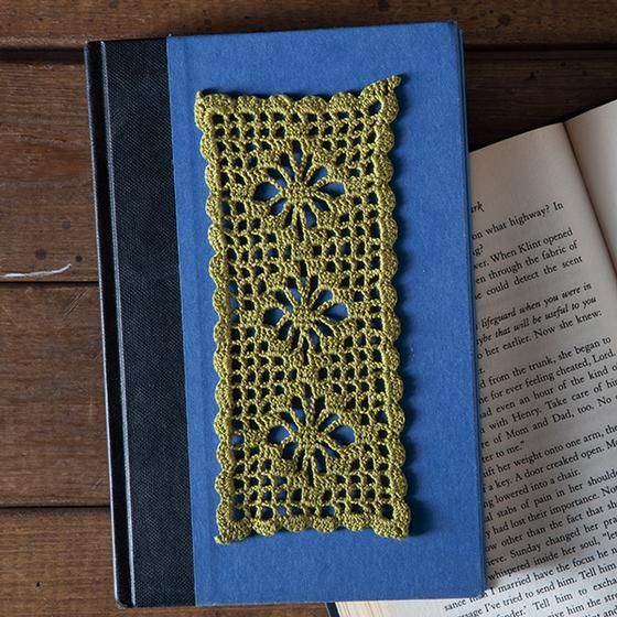 Spiderweb Lace Bookmark - Knitting Patterns and Crochet Patterns from KnitPic...