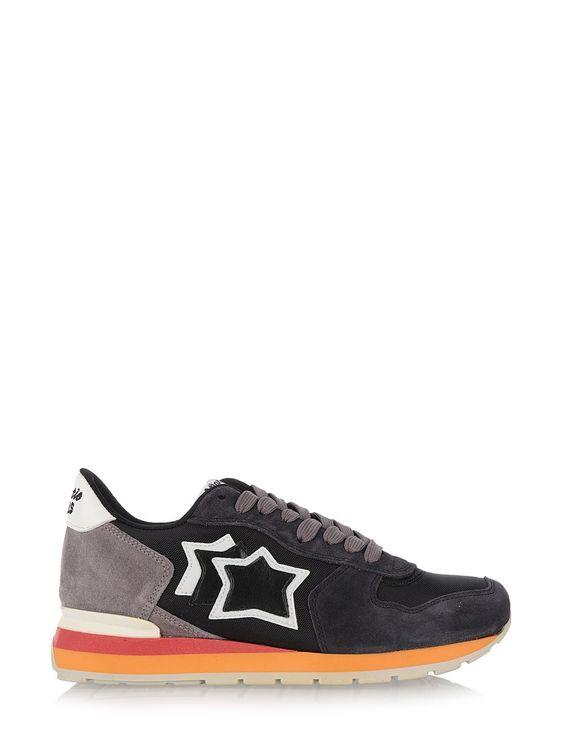 atlantic stars Gray Leather 'Vega' Sneakers Gray