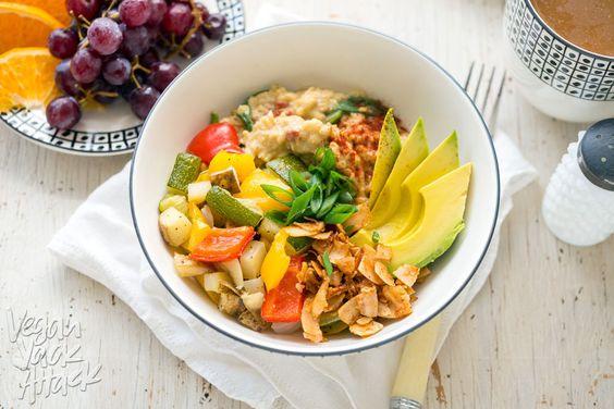 Savory Oat Frühstück Bowl - Ein herzhaftes, köstlich, gesund und glutenfreies…