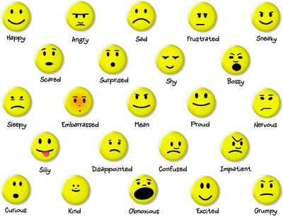 Character Emotions..print off and add to a stick and the kids raise ...