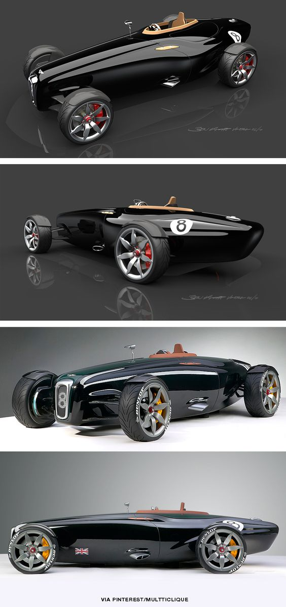 """The Bentley Barnato Roadster was designed to evoke the spirit of the original racing Bentley's, the cars that had superchargers bolted onto the front and went belting around Brooklands setting new speed records and winning races whilst being derisively dubbed """"the fastest trucks in the world"""" by Ettore Bugatti."""