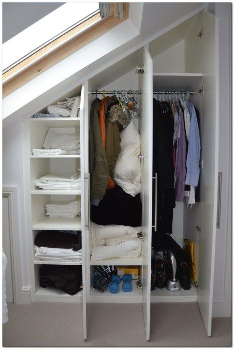Simple Loft Conversion Ideas For Dormer Build A Closet Slanted Ceiling Closet Loft Closet