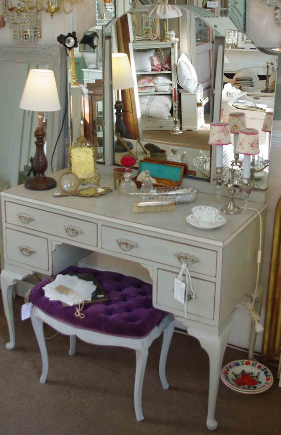 Mirrored Vanity Table And Stool: Furniture Inspiration With Vanity Table For Your Best