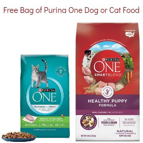 Purina Coupon Free Bag Of Dog Or Cat Food Purina Coupons Cat