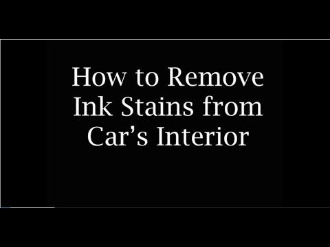 remove ink stains auto detailing and ink stains on pinterest. Black Bedroom Furniture Sets. Home Design Ideas
