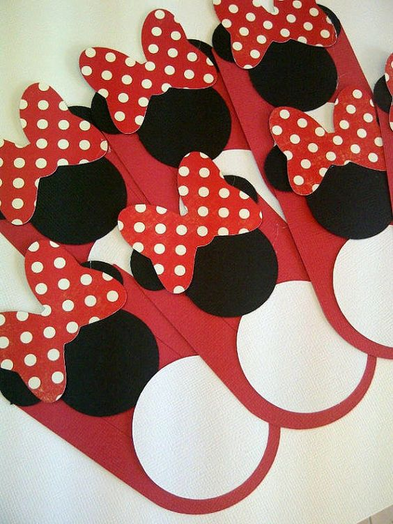 Mickey Mouse Inspired Food Tags  Buffet Tags Jar Labels by 62Cards, $13.00
