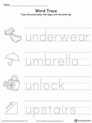 Preschool Letter U Tracing Worksheets In 2020 Preschool Worksheets Kindergarten Worksheets Printable Preschool Letters