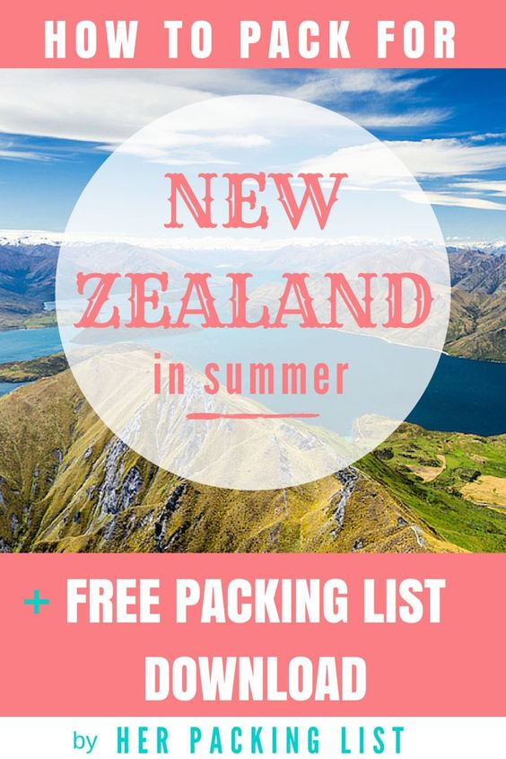 Packing Lists New Zealand And Travel Packing Lists On