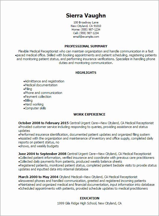 Front Desk Receptionist Resume Best Of Receptionist Resume Template 8 Free Word Pdf Document Download In 2020 Resume Skills Job Resume Samples Resume Skills Section