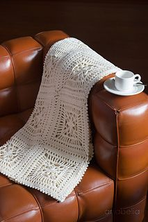 Lily square motif blanket for sofa, pattern in Ravelry now - #crochet #blanket…