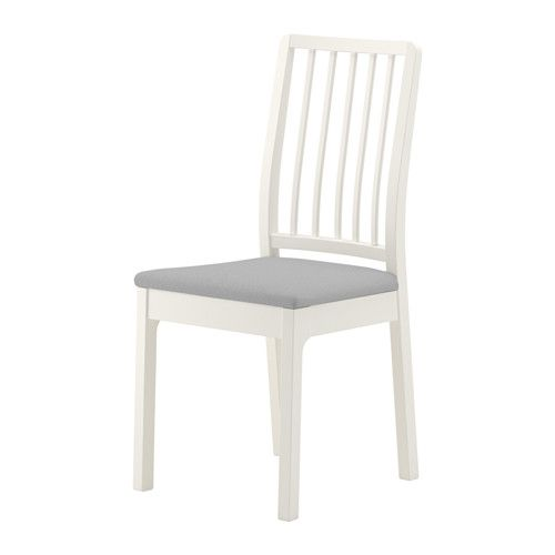 Ekedalen Chair White Orrsta Light Gray Ikea Upholstered