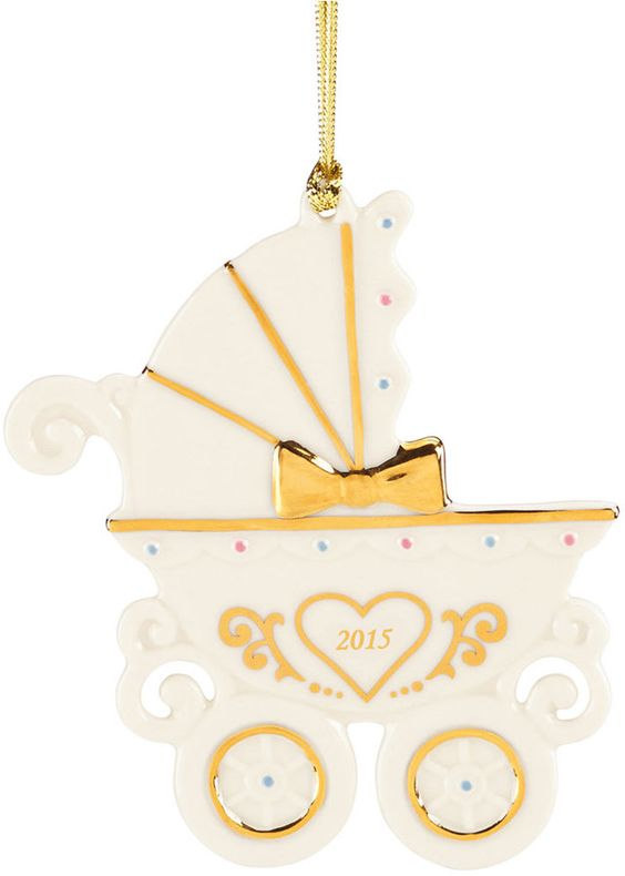 Lenox 2015 Baby's 1st Carriage Dated Ornament. Such a cute idea for baby's first Christmas.